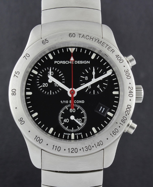 LIKE NEW UNWORN PORSCHE DESIGN STAINLESS CHRONOGRAPH WATCH