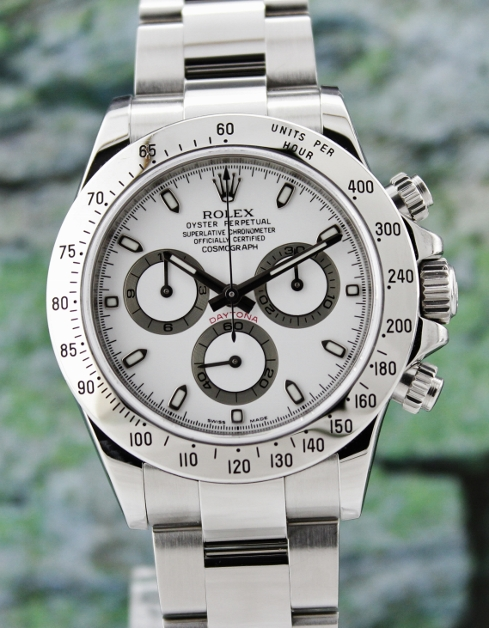 UNPOLISHED ROLEX STAINLESS STEEL DAYTONA COSMOGRAPH - 116520