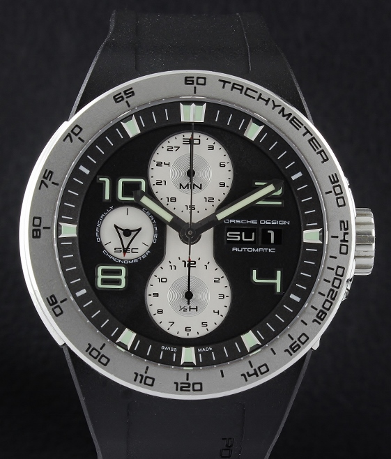 A PORSCHE DESIGN STAINLESS STEEL CHRONOGRAPH WATCH / P6340