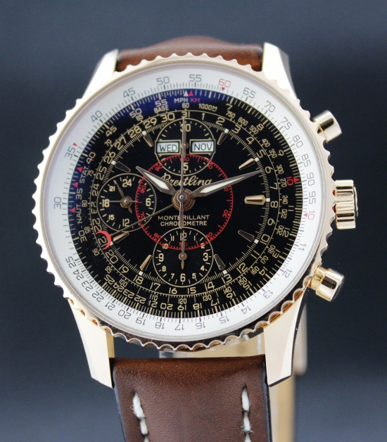 A LIKE NEW SPECIAL LIMITED EDITION BREITLING PINK GOLD / COMPLETE