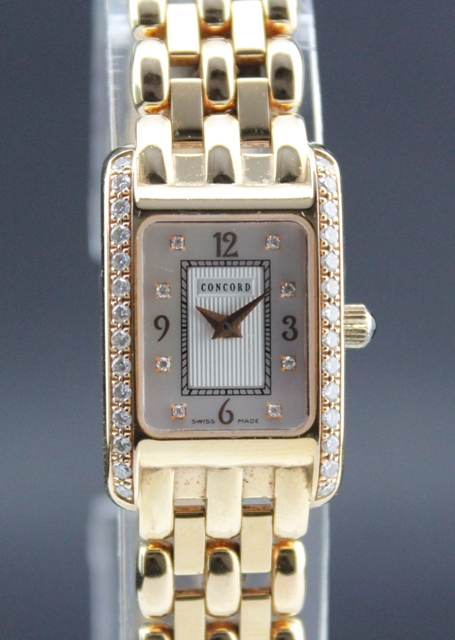 CONCORD 18K SOLID GOLD LADY DIAMOND VENETO/ MOP