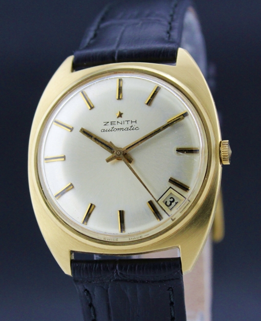A 18K YELLOW GOLD ZENITH AUTOMATIC WATCH