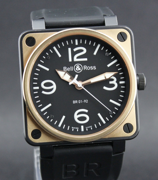 A Bell & Ross PINK GOLD BR01-92SR / Complete