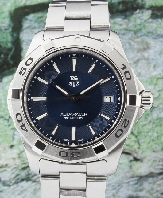 A TAG HEUER STAINLESS STEEL AQUARACER WATCH / WAP1112