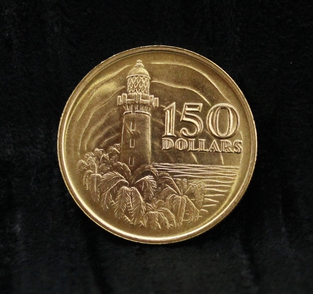 A SINGAPORE $150 DOLLARS GOLD COIN