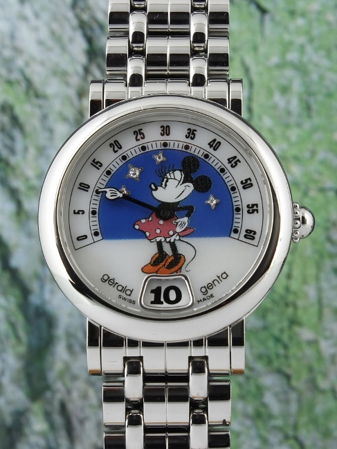 A GERALD GENTA RETRO FANTASY STAINLESS STEEL DISNEY