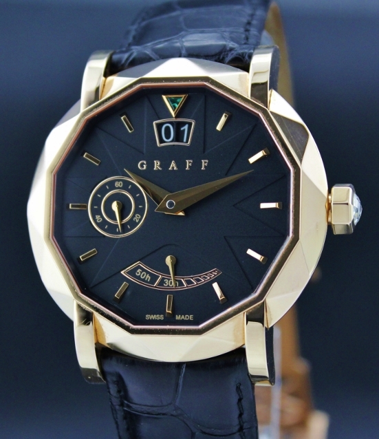 A FINE GRAFF 18K PINK GOLD GRAND DATE 45MM WATCH