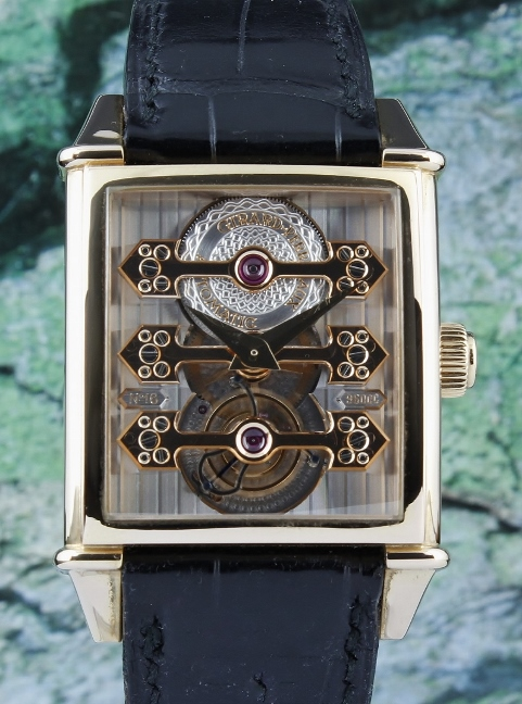 Girard Perregaux Tourbillon 18K Rose Gold With Three Gold Bridges / Ref 9987