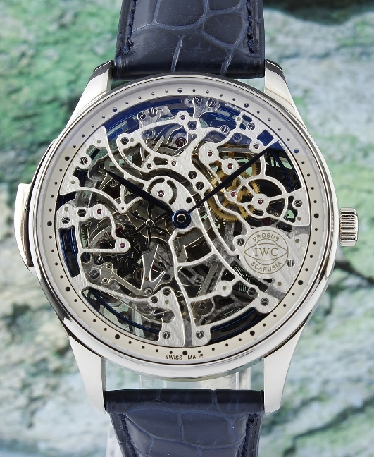 IWC Portuguese Squelette Skeleton Minute Repeater In 18K White Gold / IW524101