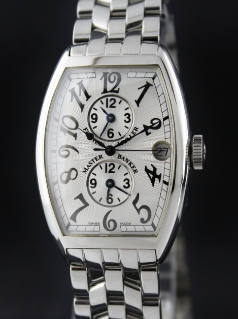 new concept be43a 70604 A FRANCK MULLER STAINLESS STEEL MASTER BANKER / 5850MB ...
