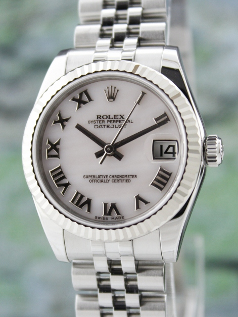 LIKE NEW ROLEX MID SIZE STEEL OYSTER PERPETUAL DATEJUST /178274
