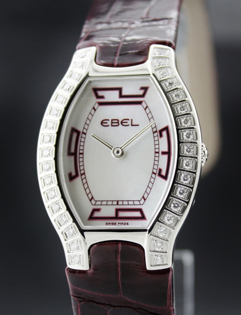Brand New Ebel Beluga Tonneau Mini Ladies Watch Diamond Bezel