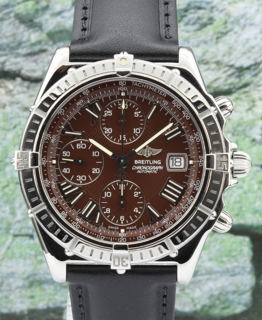 A Breitling Windrider Crosswind Stainless Steel Automatic Watch / A13055