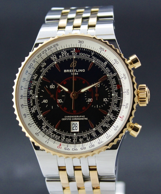 "A LIMITED EDITION BREITLING ""PINK GOLD"" MONTBRILLANT LEGENDE/ A23340"