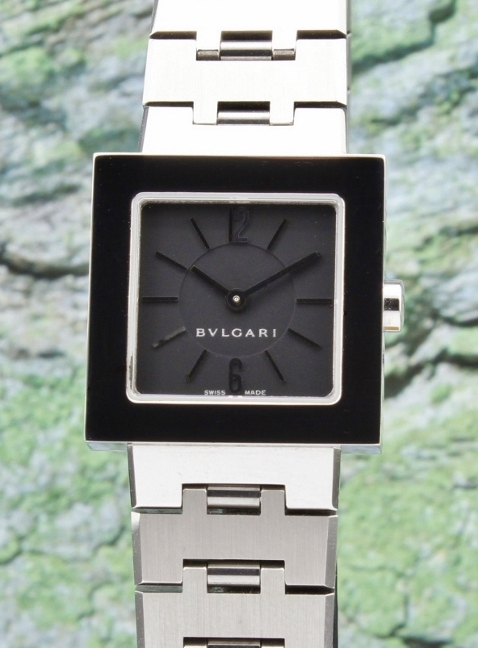 BVLGARI STAINLESS STEEL QUARTZ LADY SIZE WATCH