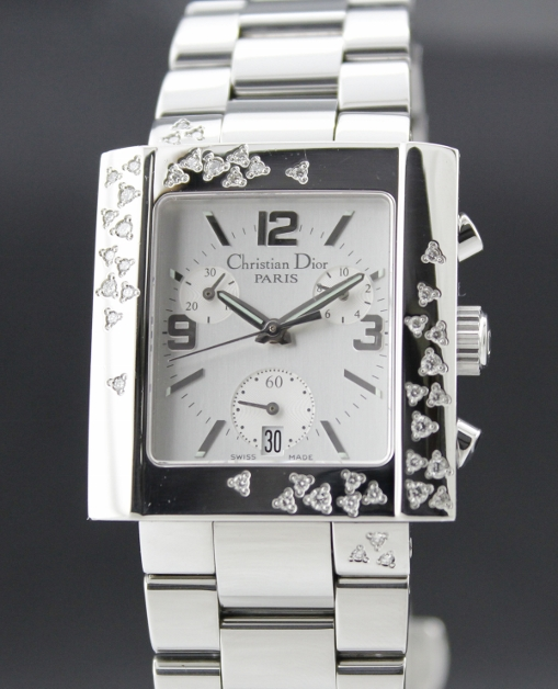 Christian Dior Riva Quartz Steel set with Diamonds Watch