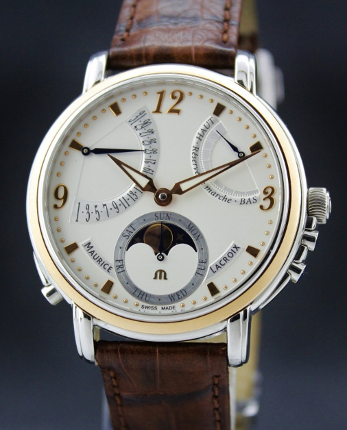 MAURICE LACROIX PING GOLD & STEEL LUNE RETROGRADE
