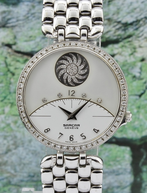 100% ORIGINAL SARCAR 18K WHITE GOLD WATCH
