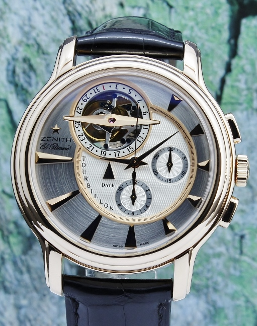 Zenith 18K Rose Gold Chronomaster XXT Tourbillon Limited Edition 50 Pieces