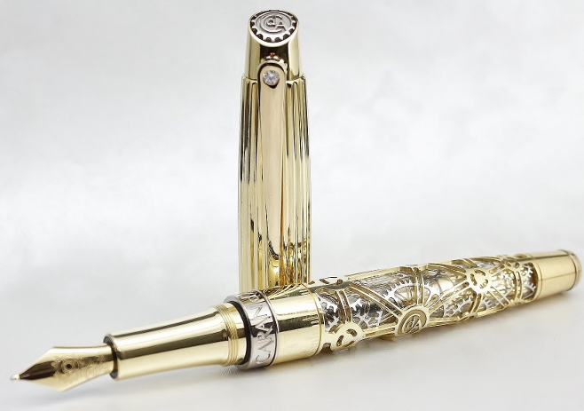 Caran d' Ache 1010 18K Yellow Gold Limited Edition Fountain Pen