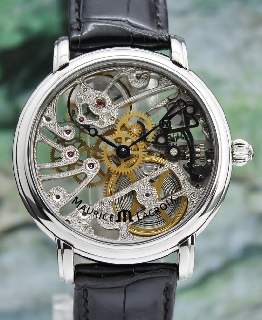 A MAURICE LACROIX MASTERPIECE SKELETON MANUAL WINDING WATCH / MP7048