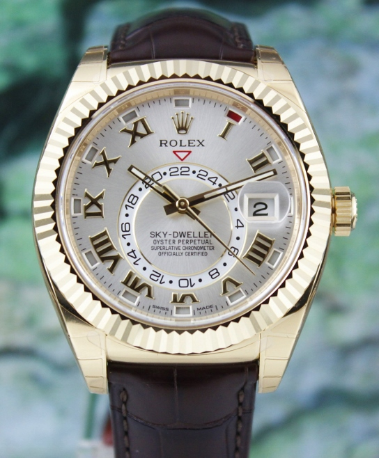 UNWORN NEW ROLEX 18K YELLOW GOLD SKY DWELLER / 326138