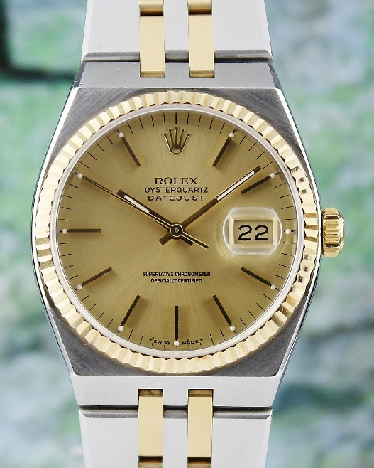 A ROLEX MEN SIZE DATEJUST OYSTER QUARTZ / 17013