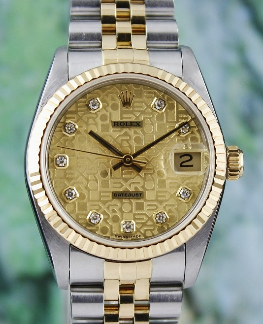 A LIKE NEW ROLEX MID SIZE H/G OYSTER PERPETUAL DATEJUST / 68273