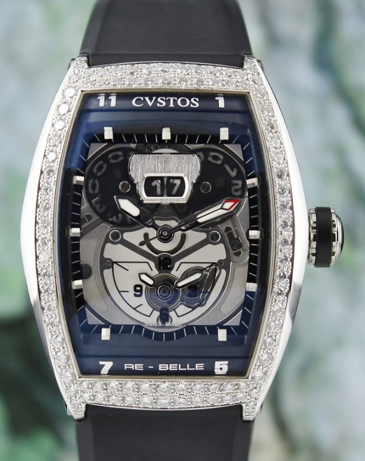 A 100% ORIGINAL CVSTOS CHALLENGE TWIN TIME DIAMOND WATCH
