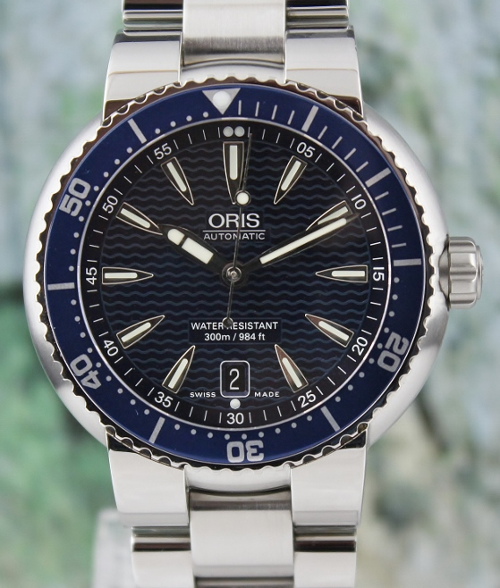 ORIS MEN SIZE AUTOMATIC STAINLESS STEEL WATCH / 01643 7609 85 54