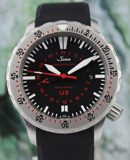 LIKE NEW Sinn U2 Black EZM 5 Automatic / 1020.010.U2-R