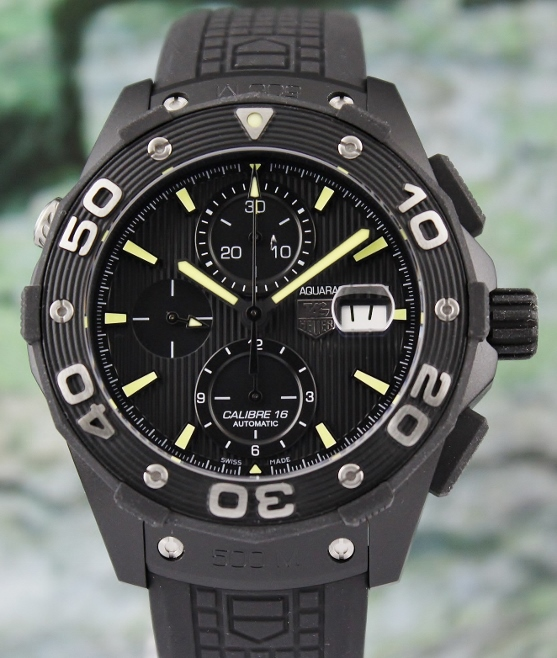 LIKE NEW TAG HEUER AQUARACER CHRONOGRAPH AUTOMATIC WATCH / CAJ 2180-2