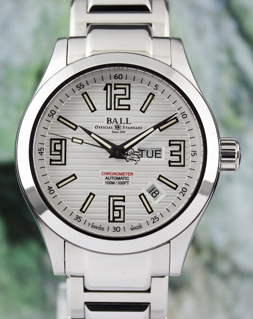 A Ball Engineer II Ohio Day-Date Automatic Watch / NM1022C-S1CA-WH