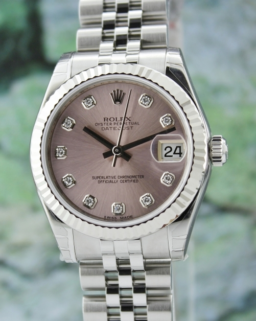 NEW ROLEX MID SIZE OYSTER PERPETUAL DATEJUST - 178274