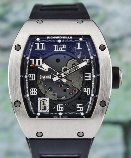 A Richard Mille 18K White Gold Automatic Skelaton Watch / RM 005