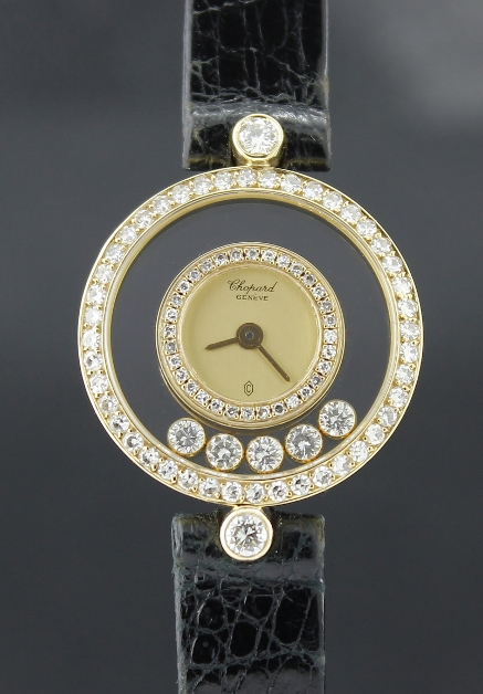 CHOPARD 18K YELLOW GOLD HAPPY DIAMOND