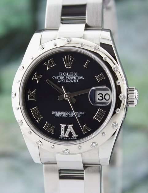 LIKE NEW ROLEX MID SIZE STEEL OYSTER PERPETUAL DATEJUST /178344