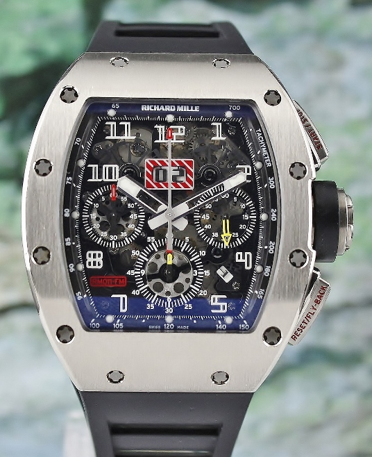 "RICHARD MILLE "" RM 011"" 18K WHITE GOLD / COMPLETE SET"