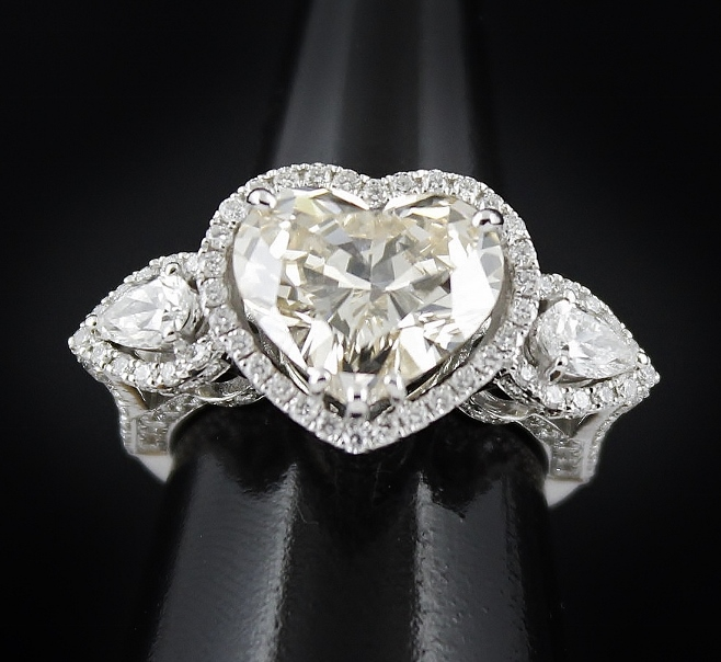 "4.59 CARAT 18K WHITE GOLD ""FANCY LIGHT BROWNISH YELLOW"" DIAMOND RING BY ""ADLER"" WITH GIA CERT"