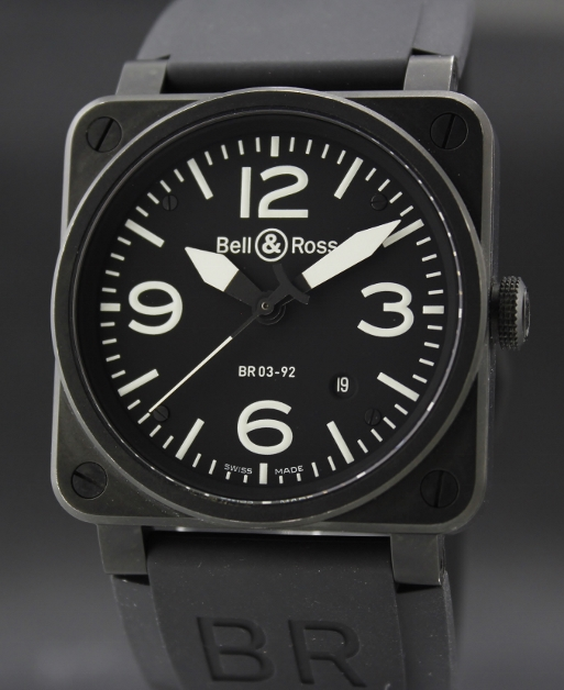 Bell Ross Instrument Aviation Automatic Watch / BR03-92-S