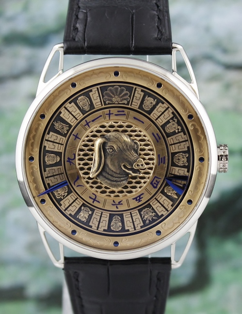 DB25 Imperial Fountain watches honour zodiac heads of Yuanming Yuan / DB25CWYG10 - Click Image to Close