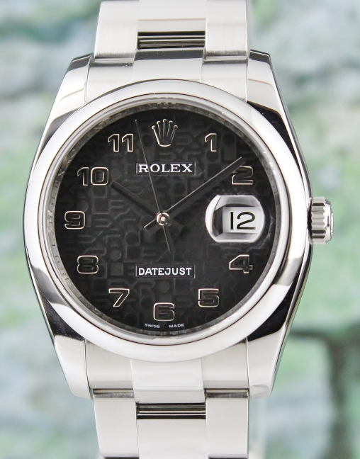 ROLEX MEN SIZE STAINLESS STEEL OYSTER PERPETUAL DATEJUST / 116200