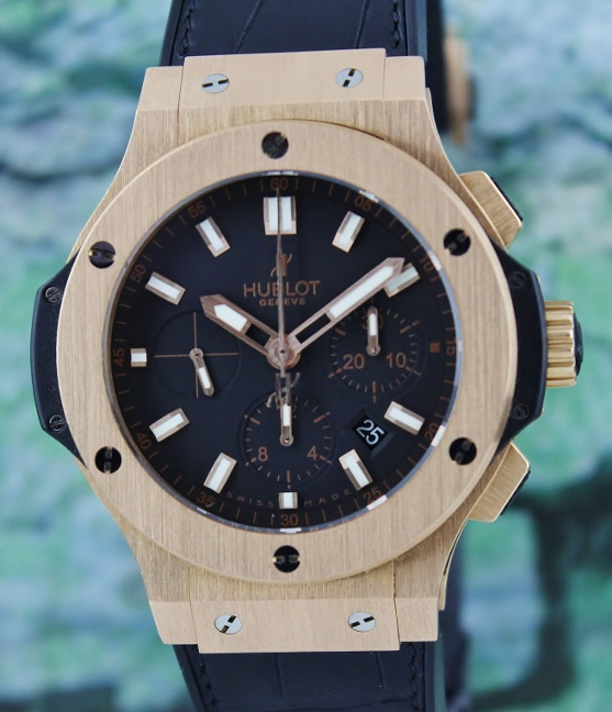 UNPOLISHED HUBLOT BIG BAND 18K ROSE GOLD AUTOMATIC CHRONOGRAPH / 301.PX.1180.RX