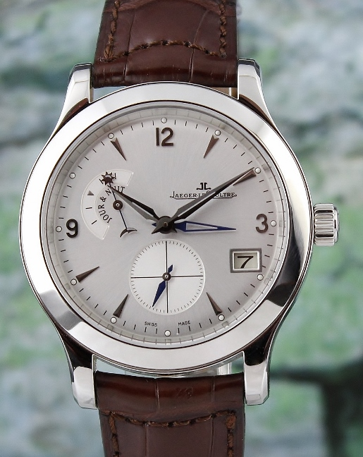Like new Jaeger LeCoultre Master Hometime In Stainless Steel / Q1628420