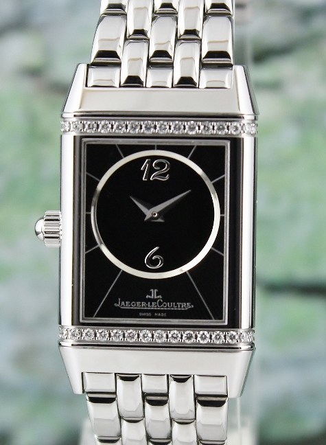 LIKE NEW Jaeger-leCoultre Reverso Duetto Manual Winding Diamond Watch / 256.8.75