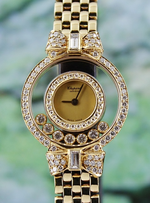 Chopard 18K Solid Yellow Gold Happy Diamond Watch
