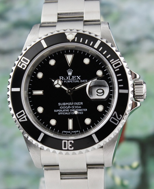 A ROLEX OYSTER PERPETUAL DATE / SUBMARINER / 16610