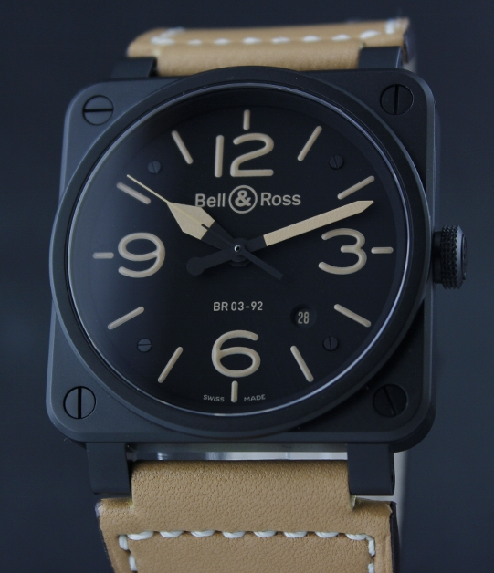 LIKE NEW BELL & ROSS Black Carbon Heritage BR 03-92 / 42mm