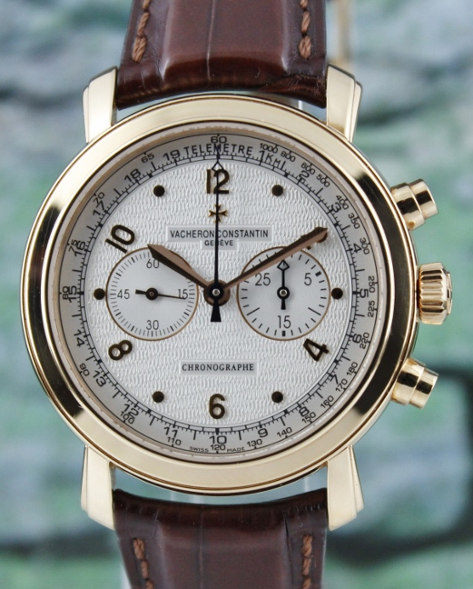 Vacheron Constantin 18K Rose Gold Malte Manual Winding Chronograph / 47120 / 000R