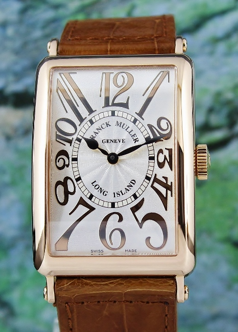 "FRANCK MULLER 18K ROSE GOLD LONG ISLAND ""RELIEF"" AUTOMATIC WATCH / 1200 SC"